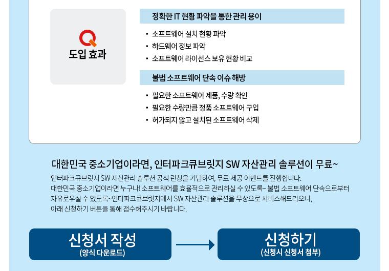 PropertyIT 인터파크큐브릿지 SW자산관리솔루션 도입효과